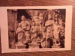 CPA, SAINT ANGEL, Joli Groupe De Vieilles Statues En Bois, Corrèze, 19, édition Eyboulet Ussel, Non écrite - France