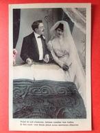 1907 - BRUIDSPAAR - MARIAGE - VOICI LE NID D'AMOUR, LAISSER TOMBER LES VOILES, IL FAIT NUIT : VOS DOUX YEUX NOUS.... - Couples
