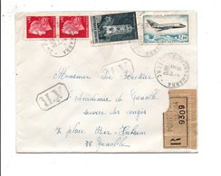 AFFRANCHISSEMENT COMPOSE SUR LETTRE RECOMMANDEE AR DE PONTCHARRA ISERE 1970 - Marcophilie (Lettres)