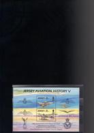 JERSEY BLOC 7** SUR LE 75E ANNIVERSAIRE DE LA ROYAL AIR FORCE - Jersey