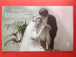 1922 - BRUIDSPAAR - MARIAGE - BRUID EN BRUIDEGOM - HYMENEE ! QUEL CHARME DE VOUS VOIR ENCLOSE EN LA BLANCHEUR... - Couples