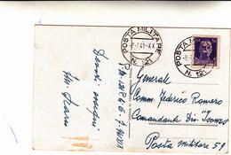 Posta Militare N°121, Grecia Per Posta Militare N°59, Su Cartolina Postale 06 Luglio  1941 - Militaria