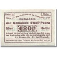 Billet, Autriche, Stadl-Paura, 20 Heller, Graphique, 1920, 1920-03-05, SPL - Austria