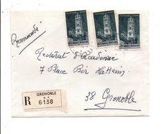 AFFRANCHISSEMENT COMPOSE SUR LETTRE RECOMMANDEE DE GRENOBLE 1970 - Marcophilie (Lettres)