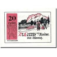Billet, Autriche, St Lorenz, 20 Heller, Paysage, SPL, Mehl:904 - Austria