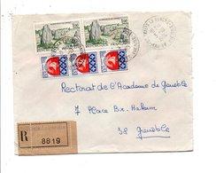 AFFRANCHISSEMENT COMPOSE SUR LETTRE RECOMMANDEE DE SAINTYRIEIX LA PERCHE HAUTE VIENNE 1966 - Marcophilie (Lettres)