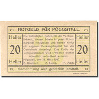 Billet, Autriche, Pöggstall, 20 Heller, Valeur Faciale, 1920 SPL Mehl:FS 756Ia - Austria