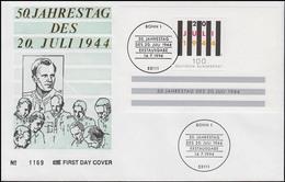 Block 29 Jahrestag Attentat Vom 20. Juni 1994 Auf Schmuck-FDC ESSt Bonn 14.7.94b - [7] République Fédérale