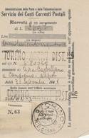 Torino. 1948. Annullo Guller TORINO *A.D. CASSA*, Su Ricevuta Versamento - 1946-60: Marcophilie