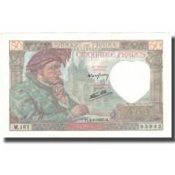 France, 50 Francs, Jacques Coeur, 1942, 1942-01-08, SPL+, Fayette:19.18, KM:93 - 1871-1952 Antichi Franchi Circolanti Nel XX Secolo