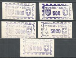 Ukraine Volin Lokal Provisory 1993 Mint Stamps - Ucrania