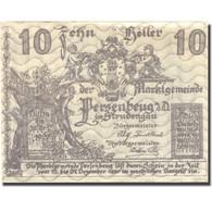 Billet, Autriche, Persenbeug, 10 Heller, Château, 1920 SPL Mehl:FS 735IIa - Austria