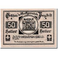 Billet, Autriche, Perg, 50 Heller, Paysage, 1920, 1920-03-16, SPL, Mehl:730 I - Austria