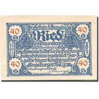 Billet, Autriche, Ried, 40 Heller, Village 1920-06-13, SPL  Mehl:FS 836IIa - Austria