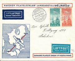 Denmark Cover First Air Mail Flight 26-8-1935 Nakskov - Copenhagen With Nice Postmarks And Cachet - 1913-47 (Christian X)
