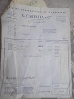 Facture L. CARESTIA & Cie à Montesson ( 78 ) - Bois De Construction à M. Gabillard Le Vésinet - 28 Août 1968 - France