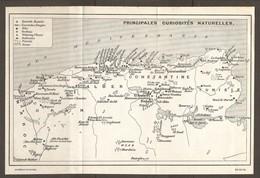 CARTE PLAN 1934 - ALGERIE TUNISIE - PRINCIPALES CURIOSITES ORAN TLEMCEN ALGER CONSTANTINE TIMGAD CARTHAGE CHERCHEL - Topographische Kaarten