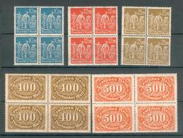 ALLEMAGNE ; Empire ; 1922 ; Y&T N° Entre 176 Et 186 ; Bloc De 4 ; Neuf Ttbe - Deutschland