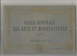 LIVRET DE L'ECOLE CENTRALE DES ARTS ET MANUFACTURES PARIS PROMO 1921 (B) RECUEIL DE 23 PHOTOS PAR SALLES - Livres, BD, Revues