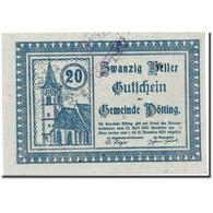 Billet, Autriche, Pötting, 20 Heller, Eglise, 1920, 1920-04-23, SPL, Mehl:774 - Austria