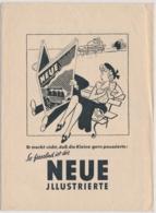 Köln - Umschlag Von Bahnhofsbuchhandlung - Werbund Neue Illustrierte - 1950er Jahre - Pubblicitari