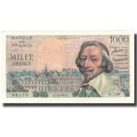 France, 1000 Francs, Richelieu, 1955, 1955-04-07, SUP+, Fayette:42.12, KM:134a - 1871-1952 Antichi Franchi Circolanti Nel XX Secolo