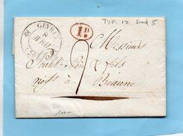 Cachet 12 GEVREY (20),L.A.C.de FIXIN Du 8/4/33 - 1801-1848: Voorlopers XIX