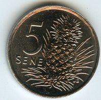Samoa 5 Sene 2000 UNC KM 14 - Samoa