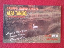 POSTAL POST CARD QSL RADIOAFICIONADOS RADIO AMATEUR GRUPPO ALFA TANGO ITALIA FRANCE BRITTANY BRETAGNE CISNE PATO.....VER - Tarjetas QSL