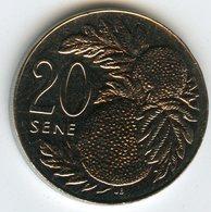 Samoa 20 Sene 2002 UNC KM 133 - Samoa