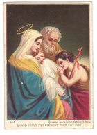 CHROMO BOUASSE N° 153 QUAND JESUS EST PRESENT TOUT EST BON IMAGE PIEUSE RELIGIEUSE HOLY CARD SANTINI HEILIG PRENTJE - Santini