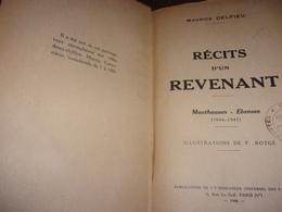 Maurice Delfieu. Récits D'un Revenant : Mauthausen, Ebensee, 1944-1945. Illus De P. Rotgé. WWII Camps  Judaica - Bourbonnais