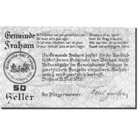 Billet, Autriche, Fraham, 50 Heller, Forêt, 1920, 1920-05-15, SPL, Mehl:FS 205a - Austria