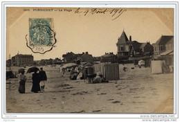 """Cachet Convoyeur """"GUERANDE A ESCOUBLAC 1905"""" Blanc  Pour Yport - Railway Post"""