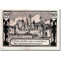 Billet, Autriche, Schärding, 80 Heller, Rempart, 1920, 1920-04-30, SPL - Austria
