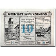 Billet, Autriche, Seebades Zell Am See, 10 Heller, Château, 1920, 1920-06-01 - Austria