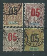 Dahomey N° 33 + 36 + 38 + 42 O Partie De Série Type Groupe Surchargés, Les 4 Valeurs Oblitérées Sinon TB - Dahomey (1899-1944)