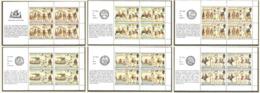 Jersey 1987 Year Mint MNH(**)  6 Mini Sheets - Jersey