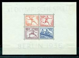 Deutsches Reich, Olympische Spiele 1936, Block 6,Falz * - Gebraucht