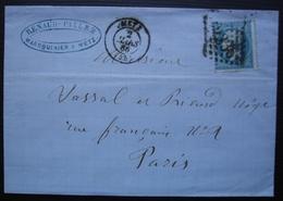 Metz 1865 Renaud Pallez Maroquinier - Marcophilie (Lettres)