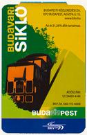 HUNGARY - UNGARN - HONGRIE TRANSPORT TRANSPORTATION CARD TICKET BUDAPEST BKV BUDAVARI SIKLO FUNICULAR PERFECT - Tram