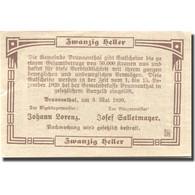 Billet, Autriche, Brunnenthal, 20 Heller, Monument, 1920 SPL Mehl:FS 111a - Austria
