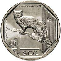 PERU 2019 , Wild Cat ( And) 1 Sol , Uncirculated - Pérou