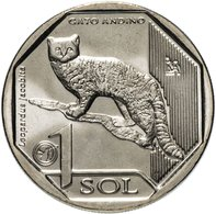 PERU 2019 , Wild Cat ( And) 1 Sol , Uncirculated - Perú