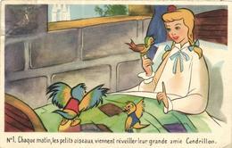 WALT DISNEY, CENDRILLON  CARTE N°1 - Künstlerkarten