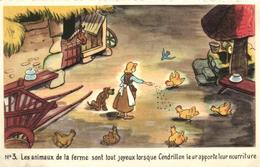 WALT DISNEY, CENDRILLON  CARTE N°3 - Künstlerkarten