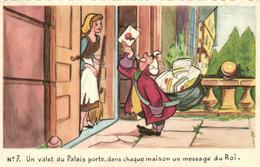 WALT DISNEY, CENDRILLON  CARTE N°7 - Künstlerkarten