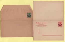 Levant Allemand - 2 Entiers Postaux Neufs - Carte Postale Reponse Et Bande Pour Imprimes - Offices: Turkish Empire