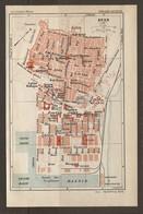 CARTE PLAN 1930 - TUNISIE TUNISIA SFAX EGLISE GRECQUE FONDOUK BASSIN De TORPILLEUR DOUANE DARSES - Topographical Maps