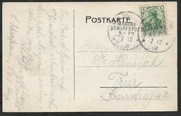1908 - DR - KAIS. DEUTSCHE MARINE SCHIFFSPOST Nº 12 (TRINIDAD) Nach TRIER - S.M.S Charlotte - Duitsland